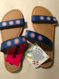 Chicago Cubs Women's Double Strap Sandals Size Small