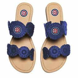 Chicago Cubs Women's Double Strap Whip Stitch Sandals