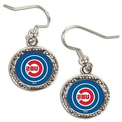 Chicago Cubs WinCraft Women's Round Dangle Earrings