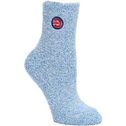 Chicago Cubs Women's Royal Fuzzy Block Tri-Blend Socks
