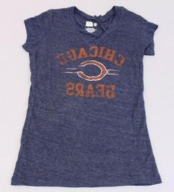 Chicago Cubs Women's Team Apparel V-Neck Logo T-Shirt AN3 Na