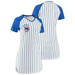 Chicago Cubs Concepts Sport Women's Vigor Pinstripe Nightshi