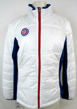 Chicago Cubs Womens Medium Screened Full Zip Quilted Jacket