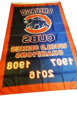 Chicago Cubs World Series Championship 3x5 ft Flag Deluxe In
