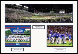 Chicago Cubs Wrigley Field 2016 World Series Framed Collage