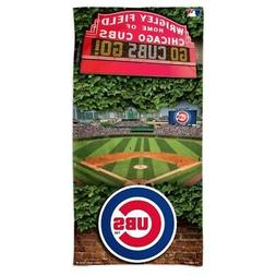 "CHICAGO CUBS WRIGLEY FIELD SPECTRA BEACH TOWEL 30""X60"" COTTO"