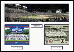 Chicago Cubs Wrigley Field Stadium 2016 World Series Framed