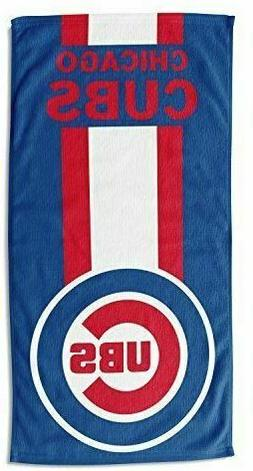 """Chicago Cubs  """"Zone Read"""" Beach Towel, 30-inch by 60-inch"""