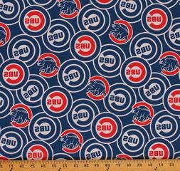 Cotton Chicago Cubs MLB Baseball Sports Cotton Fabric Print