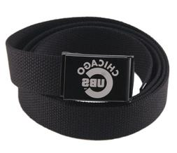 Custom Made Chicago Cubs Canvas Web Belt and Buckle