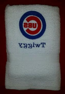 CUSTOM - PERSONALIZE CHICAGO CUBS BASEBALL MLB BATH GYM TOWE
