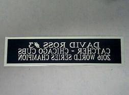 David Ross Cubs Autograph Nameplate For A Baseball Jersey Di