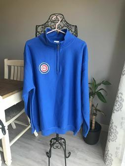 Genuine Merchandise Men's Chicago Cubs Zip Pullover Sweater