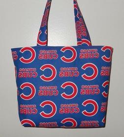 Handmade MLB Chicago Cubs Tote Purse Bag