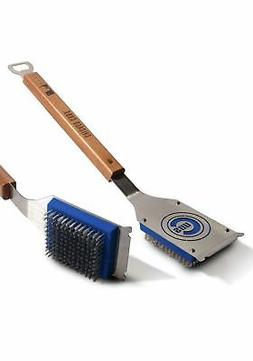 HEAVY DUTY CHICAGO CUBS GRILL BRUSH AND BOTTLE OPENER BY SPO