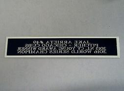 Jake Arrieta Cubs Autograph Nameplate For A Baseball Jersey