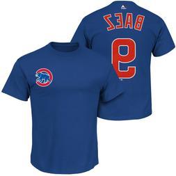 Javier Baez #9 Chicago Cubs Majestic Men's Royal Blue Name &