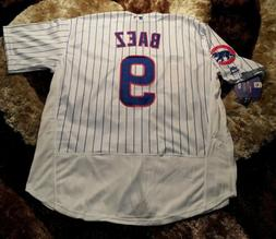 Javier Baez #9 Chicago Cubs Pinstripe flex Base Men's Jers