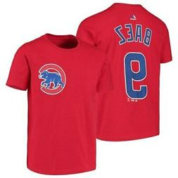 Majestic Javier Baez Chicago Cubs Youth Red Player Name & Nu