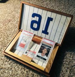 Ken Hubbs Chicago Cubs PSA Cards & Last Hit Ticket Rare Hand