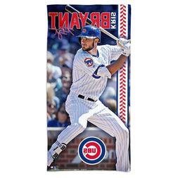 """KRIS BRYANT #17 CHICAGO CUBS 30""""X60"""" SPECTRA BEACH TOWEL NEW"""