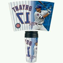 KRIS BRYANT CHICAGO CUBS ACRYLIC TRAVEL COFFEE MUG HOT OR CO