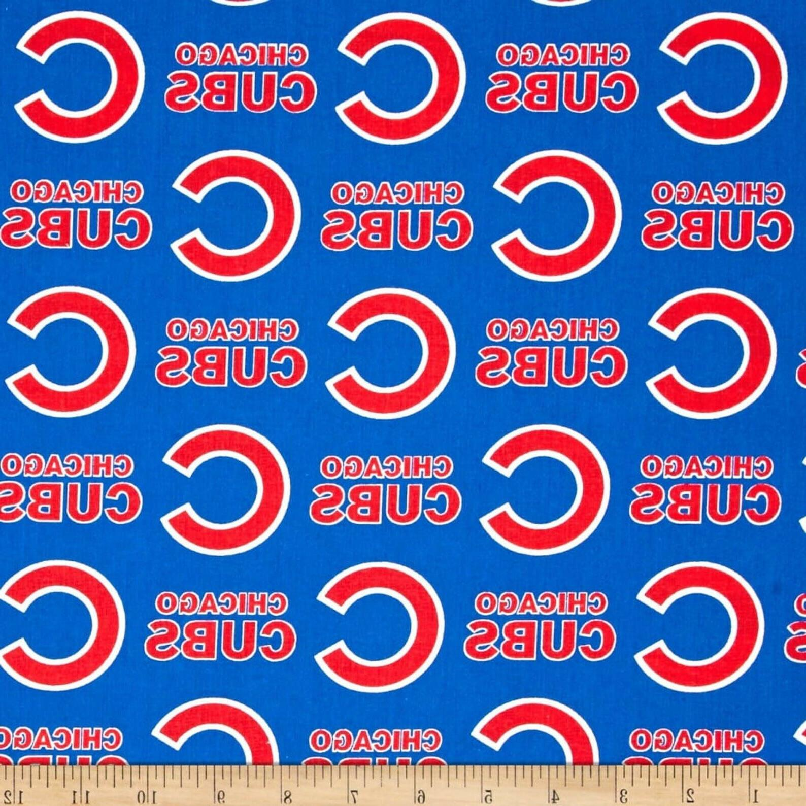 1 2 yard chicago cubs mlb cotton