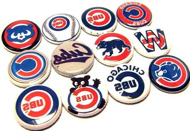 12 chicago cubs buttons 1 pins wrigley