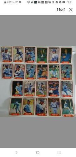 1982 chicago cubs team set of 22