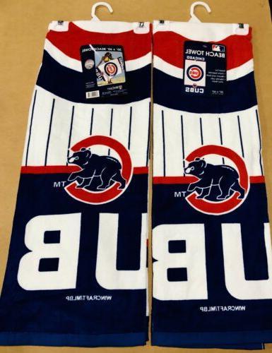 2 chicago cubs beach towels 30 x