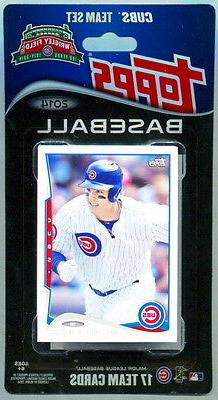 2014 Topps Chicago Cubs Baseball ~ 17-Card Factory Sealed Co