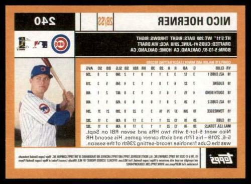 2020 Archives Nico Hoerner - Chicago Cubs RC