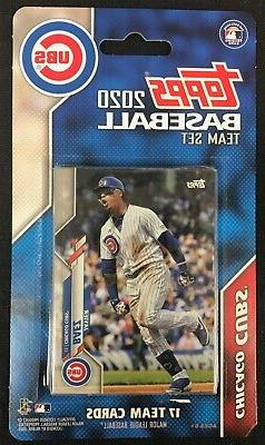 2020 Topps Chicago Cubs Baseball ~ 17-Card Factory Sealed Te