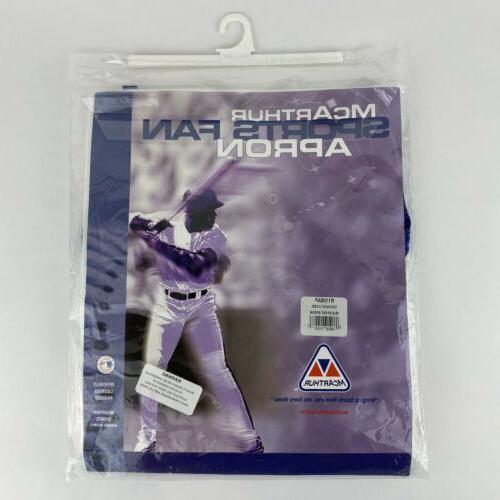 Baseball Chicago Sports Apron, White/Blue Trim New