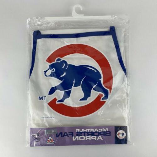 baseball chicago cubs fan apron white blue
