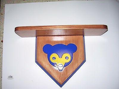 bobble heads chicago cubs display shelf cherry