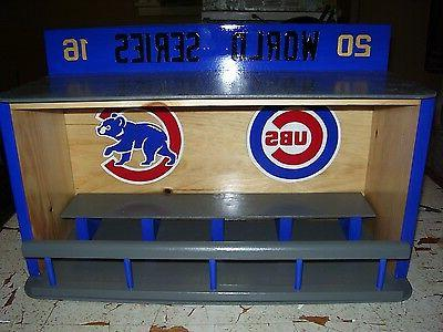 chicago cubs bobble head display case world