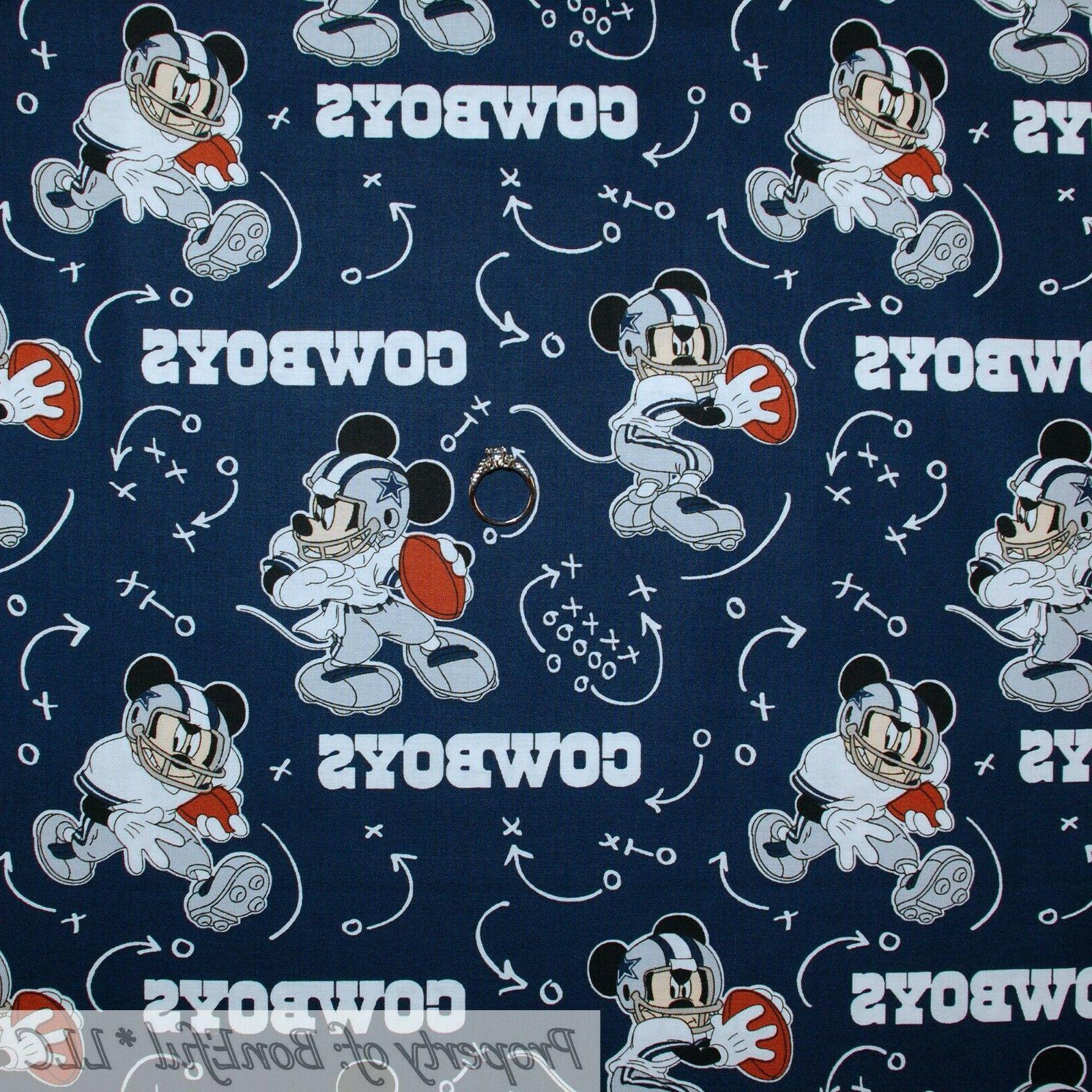 BonEful FABRIC Quilt MLB Baseball Cubs Disney Mickey Mouse Boy
