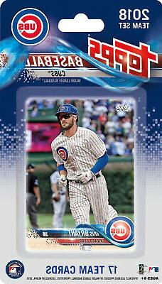Chicago Cubs 2018 Topps Baseball Factory Sealed Team Set Bry