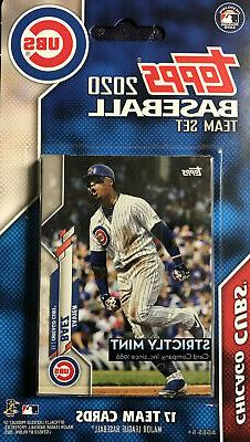 Chicago Cubs 2020 Topps Baseball Factory Sealed Team Set Kri
