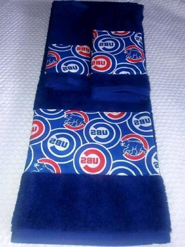 chicago cubs 3 piece bath towel set