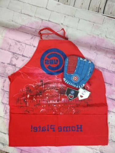 chicago cubs apron oven mitt bottle openers