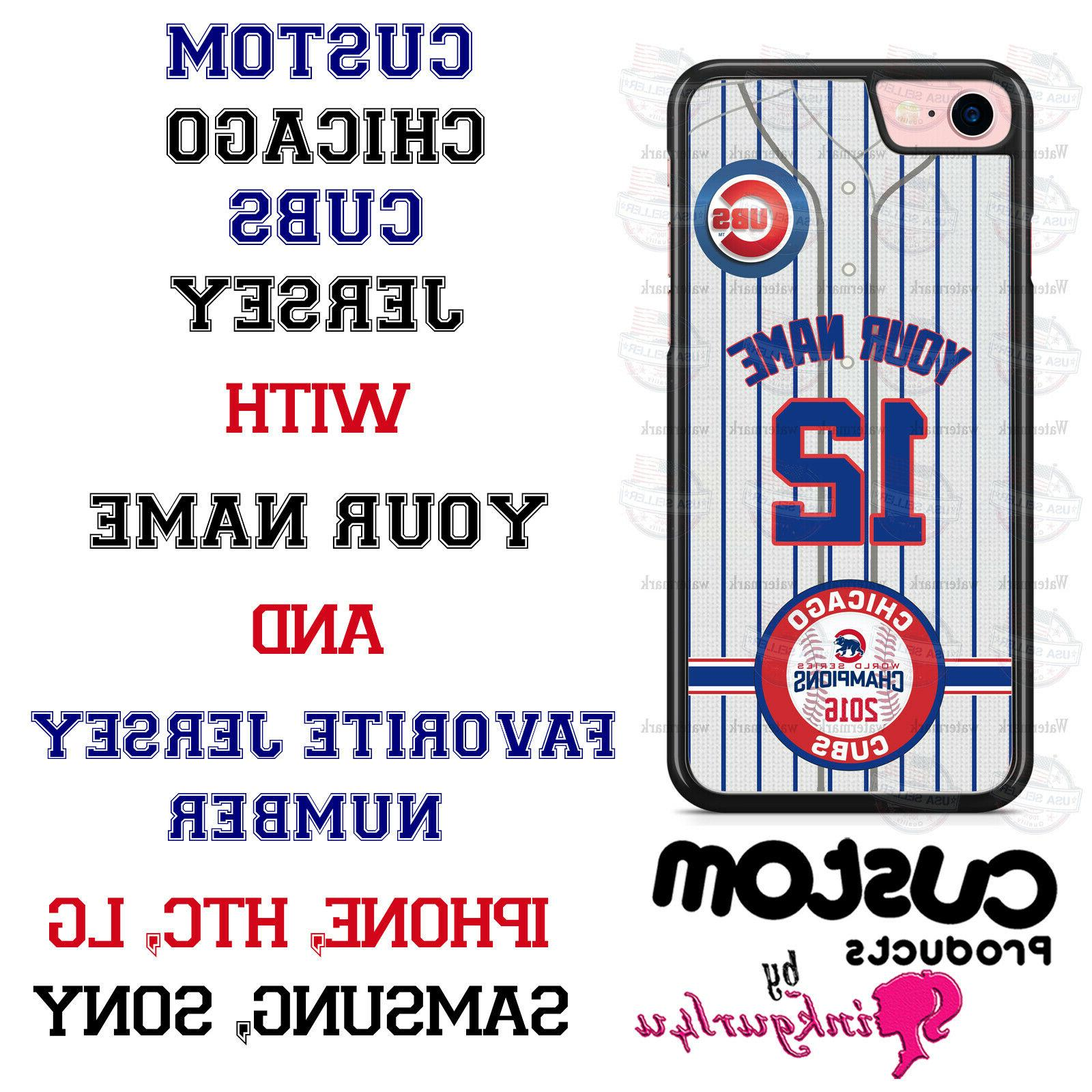 chicago cubs baseball customized phone case cover