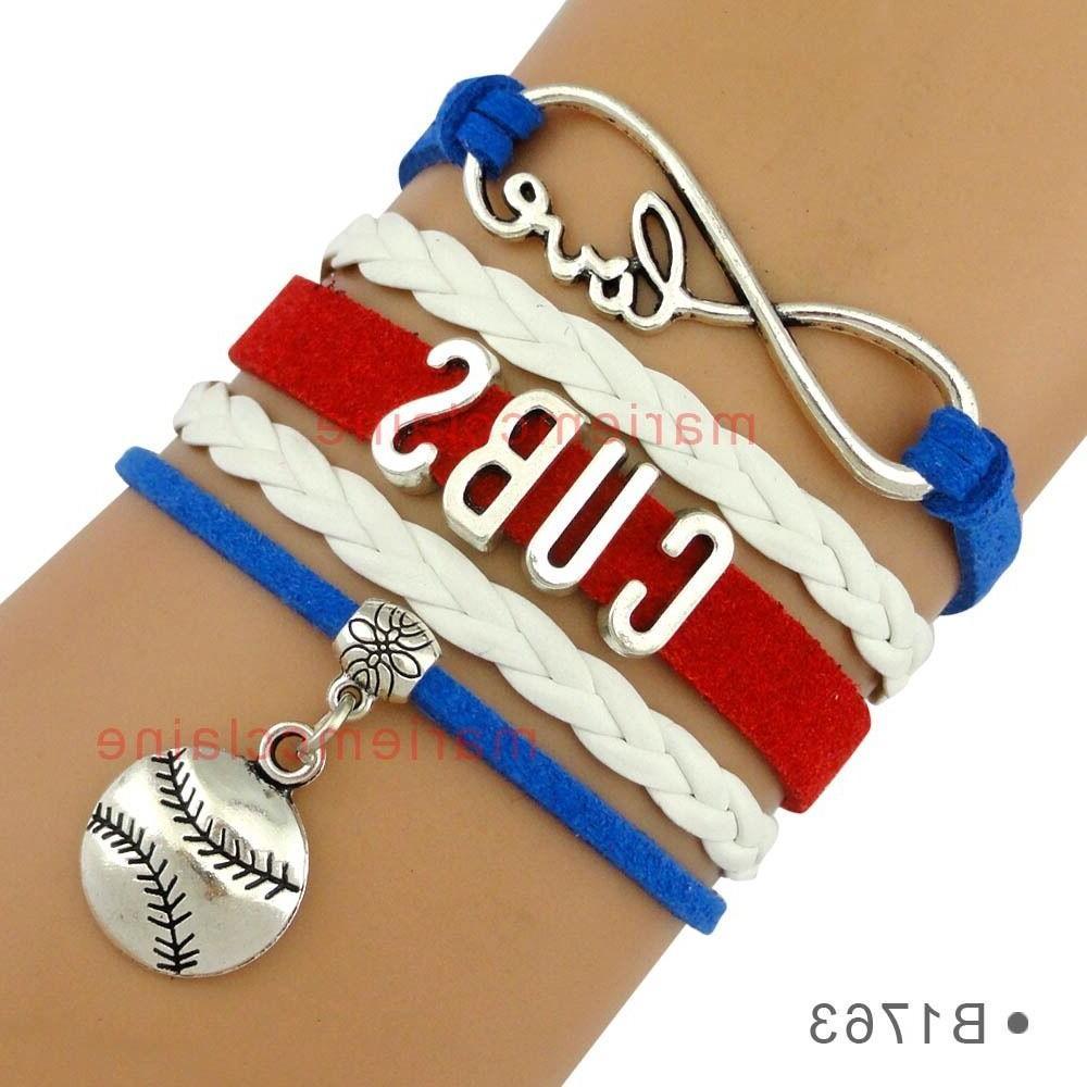 chicago cubs baseball infinity bracelet mlb charm