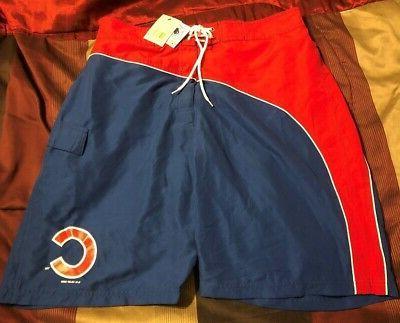 chicago cubs bathing swim suit trunks xl