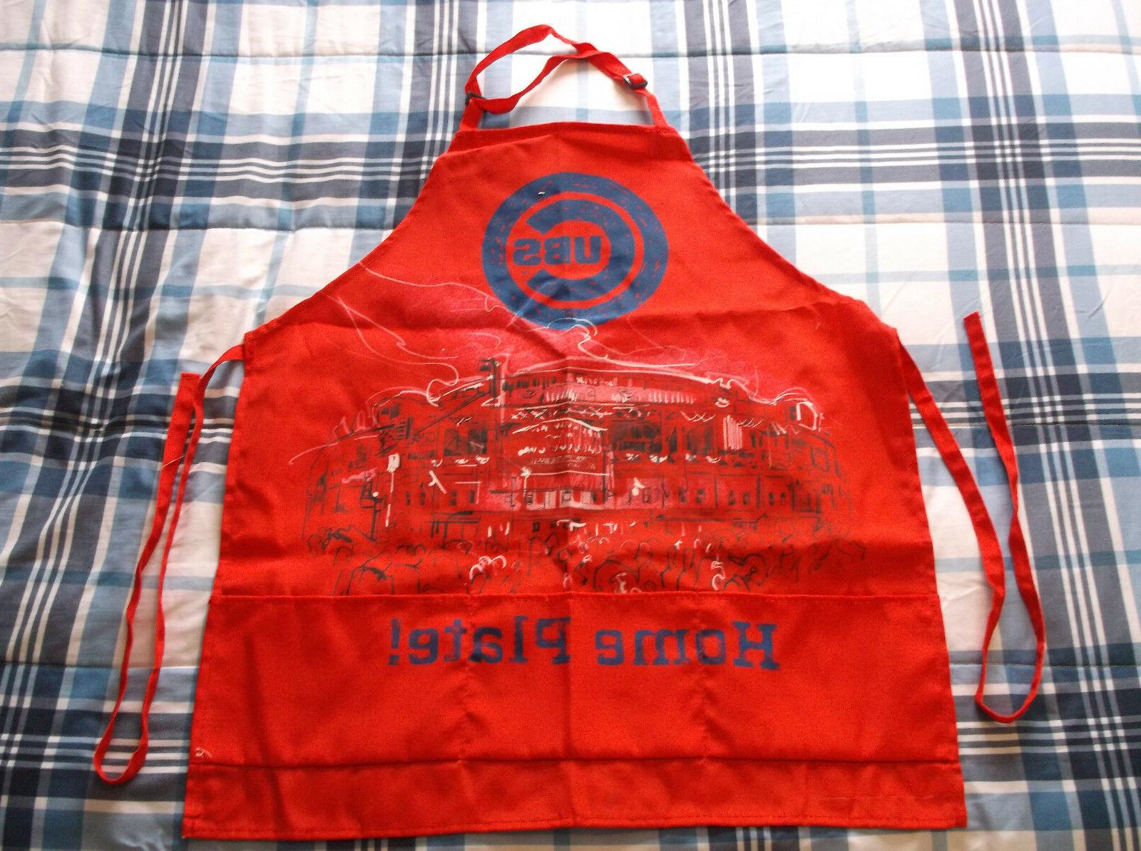 chicago cubs bbq apron from sports crate