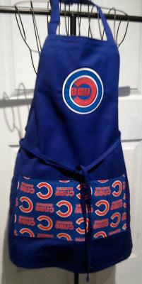 Chicago Cubs -BBQ  Kitchen Apron -  Handmade to order - Embr
