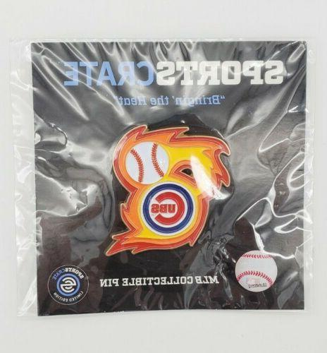 chicago cubs bringin the heat collectible pin