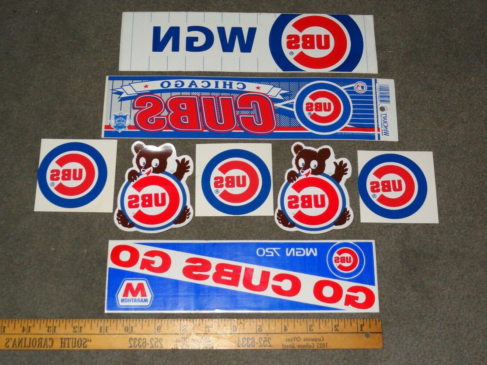 CHICAGO CUBS BUMPER STICKERS
