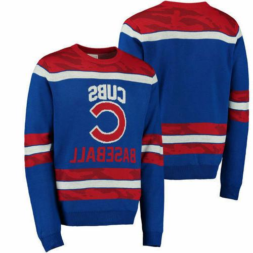 Chicago Cubs Camouflage Team Sweater Royal  MLB All Sizes NE